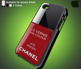 Channel Nail Colour Le Vernis Dragon - iPhone Case iPhone 4 Case iPhone 4S Case iPhone 5 Case iPhone 4 / 4S / 5 Case Hard Cover (DEFAULT : iPhone 5 Black Case)